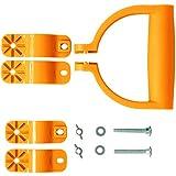 UPP D-Handgriff Griff Universal 360° Rotation | Ersatzgriff für ergonomisches Arbeiten mit Gartengeräten | Passt für Schaufel, Rechen, Besen, Spaten, Harke etc.