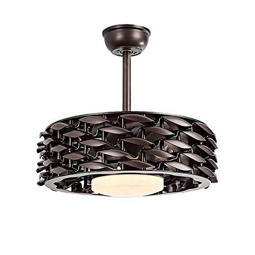 BAIF 42 Zoll blattlosen Ventilator anhänger Beleuchtung deckenventilatoren mit Fernbedienung Fan kronleuchter esszimmer Wohnzimmer dekorative Lichter (Farbe: braun)