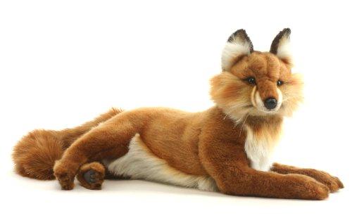 Plush Soft Toy Red Fox Lying by Hansa. 45cm 4765