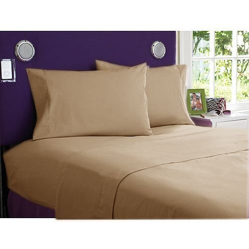 Super Soft Solid Taupe Standard 2PC Pillow Covers 100% Cotton