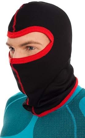 Balaclava / Ski mask / Face mask - Thermoactive SILVERPLUS ® (Black/Red, M/L)