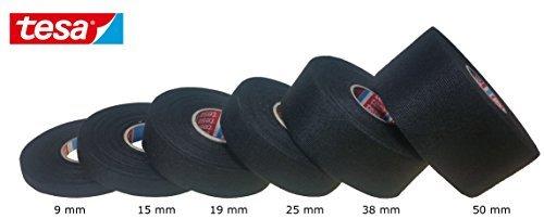 Preisvergleich Produktbild Tesa Gewebeband PET-Vlies 51608 Isolierband für Kabelbäume Baumwolle Klebeband (19mm x 25m)