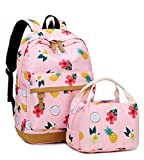 Best Teen Lunch Boxes - Travel Backpack Cute School Bookbag Set with Lunch Review