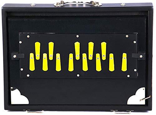 Shruti Box Professionelle Shruti-Box, unreint, Schwarz, lange Haltbarkeit, 13 Noten, 33 x 24 x 7,6 cm, mit Tasche, G bis G Tuned, Sur Peti Surpeti, Shruthi Box