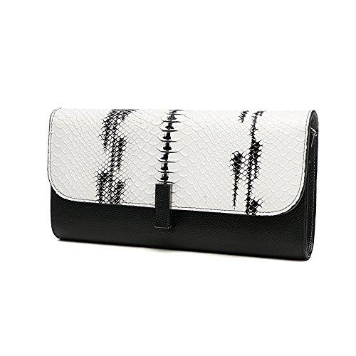 Sacchetto di mano, sacchetto di mano femminile, cartella di grande capacità di cuoio di tendenza di modo, pacchetto di pranzo di banchetto ( Colore : Arancia ) Bianca