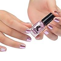 HLHN Spiegel Nagellack Überzug Silber Paste Metall Farbe Edelstahl 6ml (rosa)