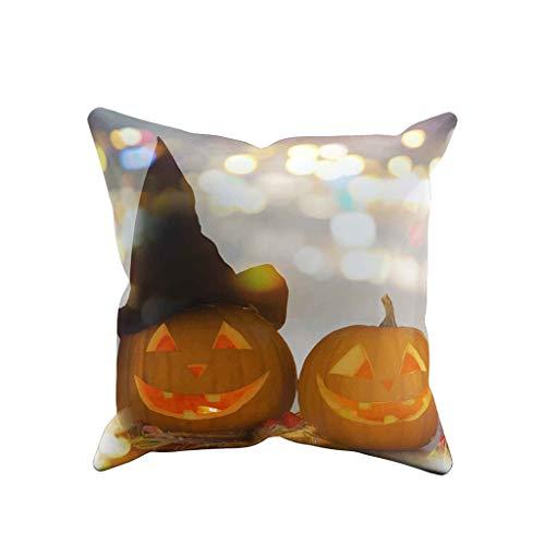 Precioul Halloween Kissen, Kissenbezüge Dekorativer Überwurf-Kissenbezug Kissen Polyester Kissenbezug HappyHalloween Halloween Kissenbezug -