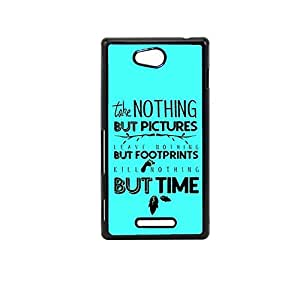 Vibhar printed case back cover for Sony Xperia C Footprints