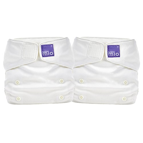 Bambino Mio miosolo all in one nappy, Marshmallow (pack of 2)