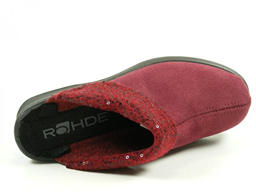 Rohde 4512-48 Farun Damen Hausschuhe Pantoffeln Weite F 1/2 Rot
