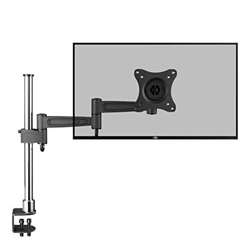 RICOO Monitor Tischhalterung Monitorhalterung TS2111 Monitorständer Schwenkbar Neigbar Höhenverstellbar Schreibtisch Bildschirmständer Bildschirm Ständer Monitorhalterungen VESA 75x75 100x100 Schwarz 71 Universal Flat Wall Mount