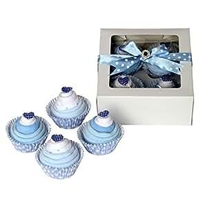 Chaussettes bébé garçon Motif cupcakes Coffret cadeau bébé/Cadeau Maternité/bébé douche cadeau/New Arrival/envoi rapide