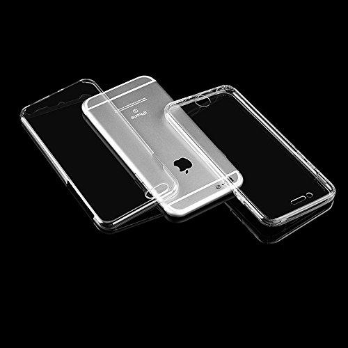 """xhorizon Étui mince anti-choc 360 degré,Étui protection transparent avant et arrière en TPU pour iPhone 6 Plus/ iPhone 6S Plus[5.5""""] transparent"""