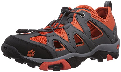 Jack Wolfskin KIDS MTN ATTACK AIR, Unisex-Kinder Trekking- & Wanderhalbschuhe, Orange (bright pumpkin 3021), 34 EU (2 Kinder UK)