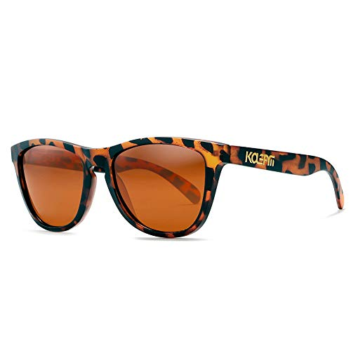 Klassische polarisierte Sonnenbrille Quadratische Rahmen UV400 Schutz für Männer Frauen Fahren Brille reflektierende Linse,2