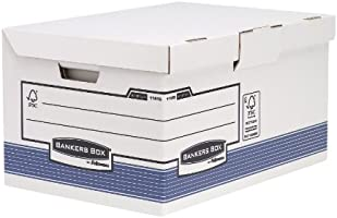 Bankers Box System Flip Top Maxi Storage Box - Blue, Pack of 10