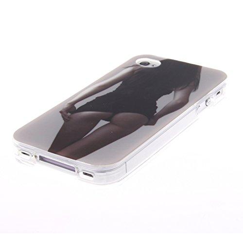 ZeWoo TPU Schutzhülle - TX002 / Eine bunte Eule - für Apple iPhone 4 4G 4S Silikon Hülle Case Cover TX018 / Ein sexy Mädchen