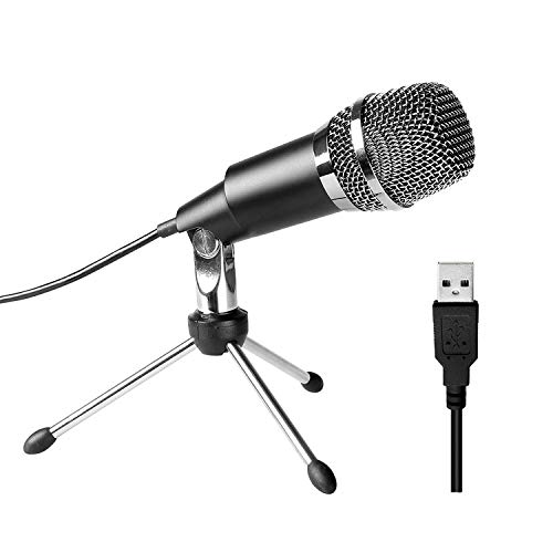 WOVELOT USB-Mikrofon, Plug & Play Haus Studio USB-Kondensatormikrofon Für Skype, Aufnahmen Für YouTube, Google Voice Search, Spiele (Windows/Mac)