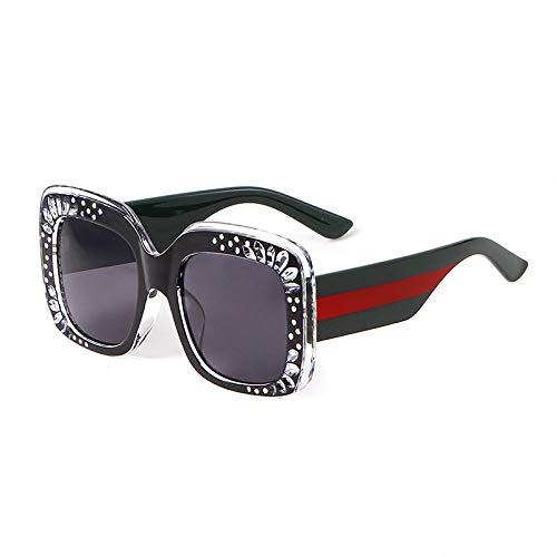 SYQA Sonnenbrille Weinlese-quadratische Sonnenbrille-Frauen-Mann-Retro- große Rahmen-Brillen die meiste populäre Sonnenbrille,C1