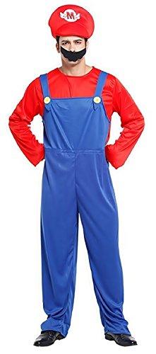 Inception Pro Infinite Taglia Unica - Costume - Travestimento - Carnevale - Halloween - Super Mario Bros - Videogiochi - Colore Blu - Adulti - Uomo - Ragazzo