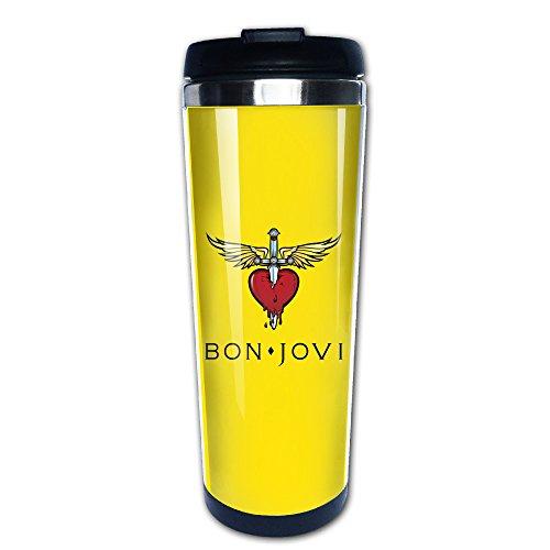 BON JOVI Logo Kaffee Becher/Reise Tassen,/Vakuum Cup -