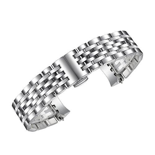 l massiv Metall Armbanduhr BANDS/Lederriemen Ersatz für 1853 Tissot Le LocLe T41 Serie 19 mm ()