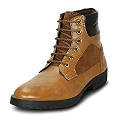 GET GLAMR Mens Tan Synthetic Chukka Boots - 7 UK