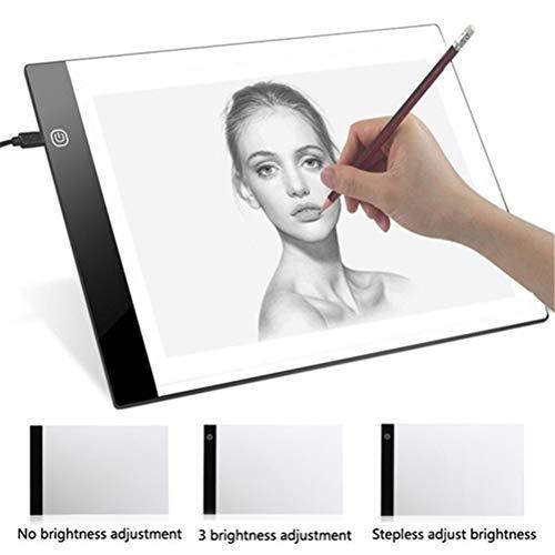 EisEyen Digitales A4 LED Grafiktablett zum Zeichnen Anzeigefeld Leuchtender Schablonen Grafiker Dünner Kunstschablonen Zeichnungs Brett Leuchtkasten