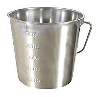 Kerbl Stainless Steel Bin 12.3 Litres with Measuring Scale