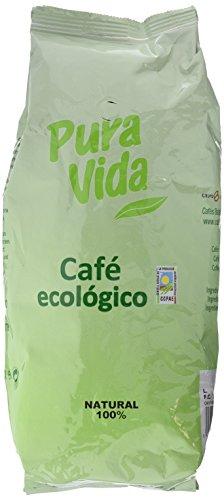 Pura Vida Café Ecológico en Grano 100% Arábica - 1000 gr