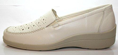 Comfortabel Mocassini da, Sport chiuseuomo offerta da donna - con tacco in PU-suola in bianco Bianco (bianco)
