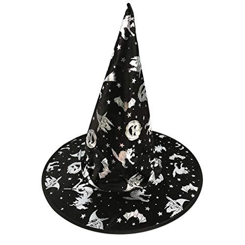 Folie Hut Kostüm - ruiruiNIE Mode Bunte Erwachsene Kinder Hexenzauberer Hut Folie Kürbis Muster Kostüm Halloween Party Maskerade Cosplay Kostüm-3#