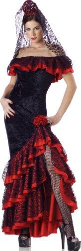 spanische Tänzerin Kostüm - Small (Spanische Tänzerin Kostüm)