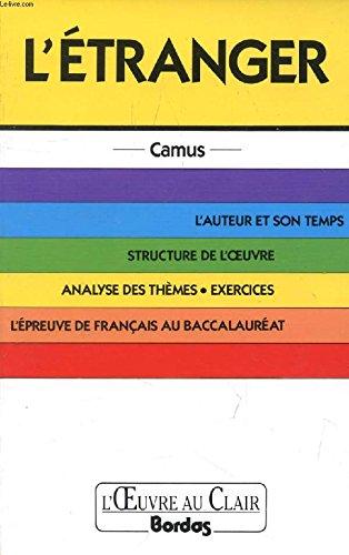 O.CL/CAMUS L'ETRANGER    (Ancienne Edition)