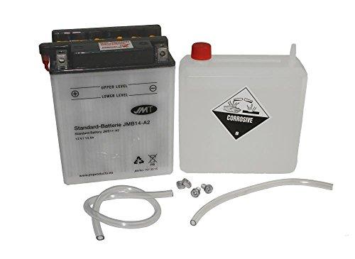 Batterie YB14-A2 12V 14AH für Roller Motorrad inkl. Säure DIN: 51412