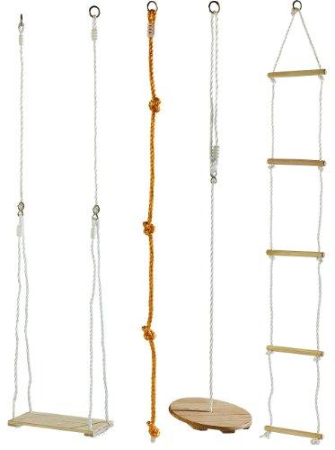 Preisvergleich Produktbild Playtastic 4-teiliges Schaukel- und Kletterset für Kinder