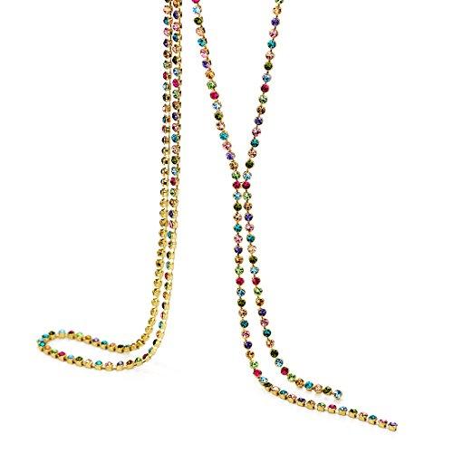 Neoglory Jewellery Pullover Halskette mit Strass Kugel bunt