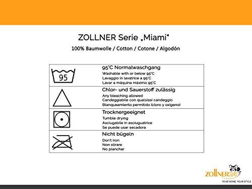 ZOLLNER® Bademantel – Saunamantel mit Schalkragen unisex L weiß 100 % Baumwolle Serie Miami - 2