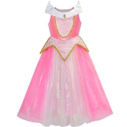 Aurora Kostüm Briar Rose kleiden Oben Rosa Gr. 146 ()