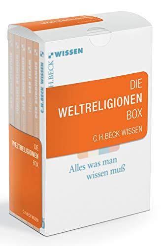 Die Weltreligionen Box: Enthält: 2070 Nowak, Das Christentum; 2367 Schmidt-Glintzer, Der Buddhismus; 2158 v. Stietencron, Der Hinduismus; 2145 Halm, Der Islam; 2003 Stemberger, Jüdische Religion
