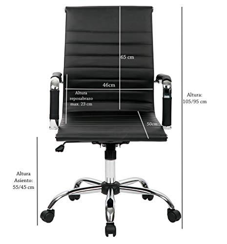 T-LoVendo TLV-SB1 Silla de Oficina Ergonomica Reclinable de Diseño Piel Cuero Sintetico...