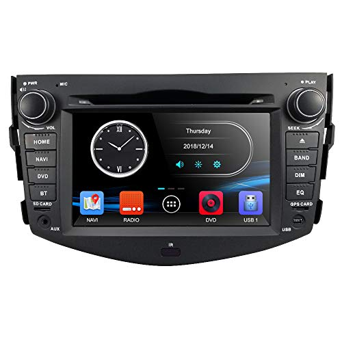 Hizpo Car in Dash Autoradio for Toyota RAV4 2006 2007 2008 2009 2010 2011 2012 7 inch Monitor DVD Player GPS Navigation Stereo Bluetooth SWC Subwoofer Reverse Cam-in