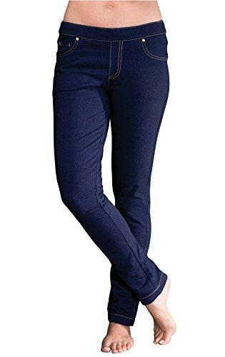PajamaJeans Damen Skinny-Jeans - Denim-Strickstoff mit Stretchanteil - Indigoblau - XXXL Plus Size (Size Plus Damen Jeans)