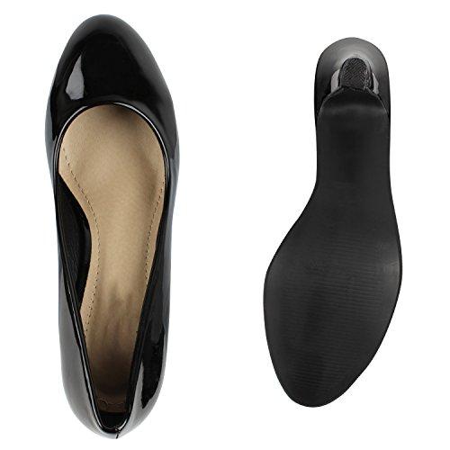 Stiefelparadies - Scarpe chiuse Donna Schwarz Lack