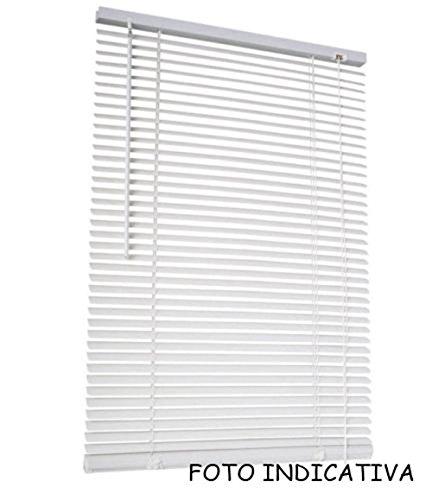 Vetrineinrete tende veneziane in pvc veneziana finestra tenda marrone bianco beige chiaro o scuro effetto legno varie misure (bianco, 100 x 160) e4