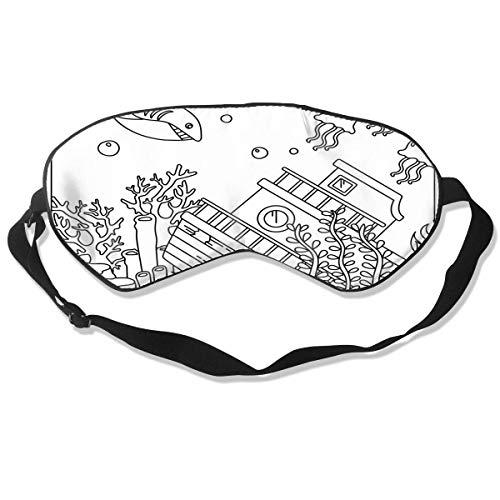 Miedhki Unisex Sleeping Eye Mask Sunflower Tattoo Eye Mask Cover with Adjustable Strap Blindfold Eyeshade for Travel, Nap, Meditation Fashion12