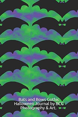 Bats and Bows Gothic Halloween Journal: Cute journal notebook composition book with a pattern of bats with bows and bow ties.