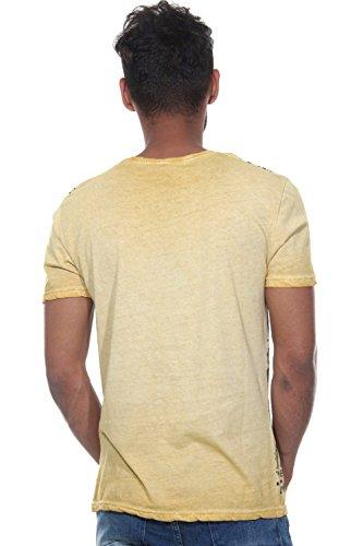 EX-PENT T-Shirt Rundhals slim fit Gelb