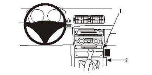 2005-2012 consola central con sistema de navegaci/ón Brodit Proclip 853595 para BMW 3 Serie 316-330 E90//E91//E92//E93 sin madera