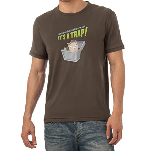TEXLAB - Look out Schrödinger´s Cat - Herren T-Shirt Braun